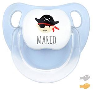 Chupete Baby Deco Pirata Azul Personalizado