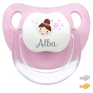 Chupete Baby Deco Hada Rosa Personalizado